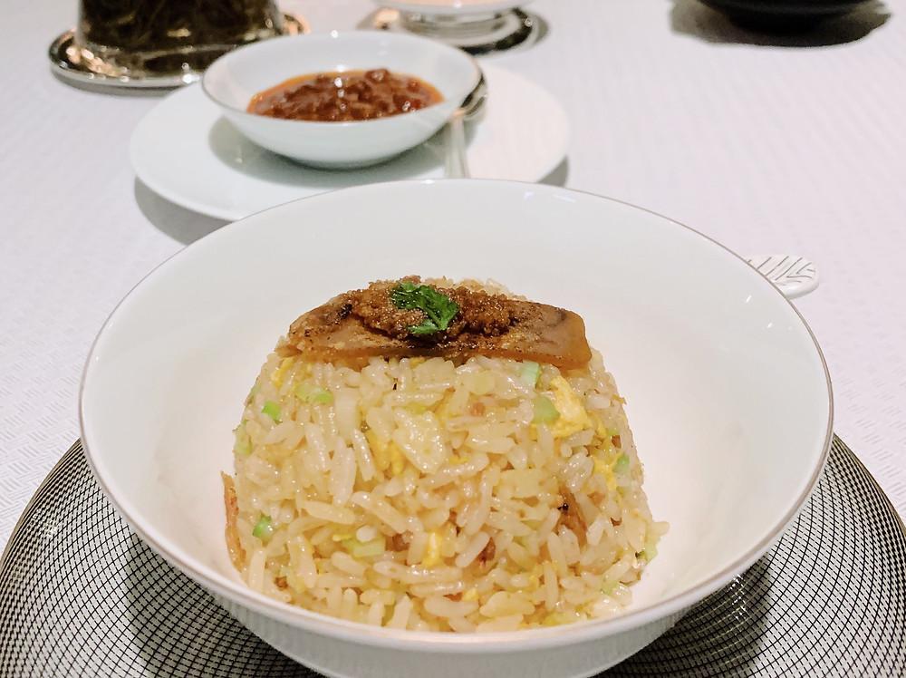 Fried rice at Run Restaurant at St Regis HK Hong Kong