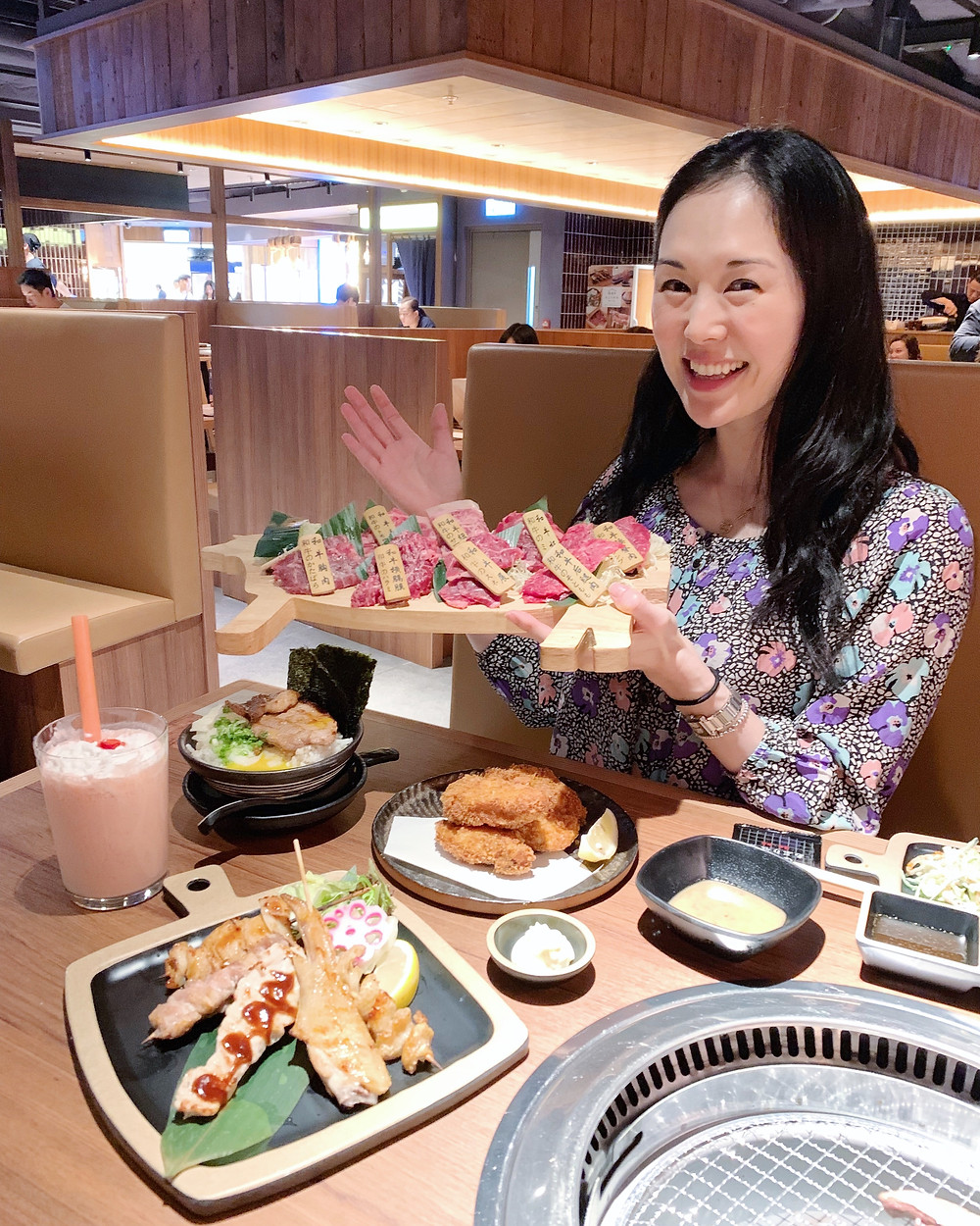 Jenni Lien food blogger at Maruju Aburi Farm restaurant in Hong Kong