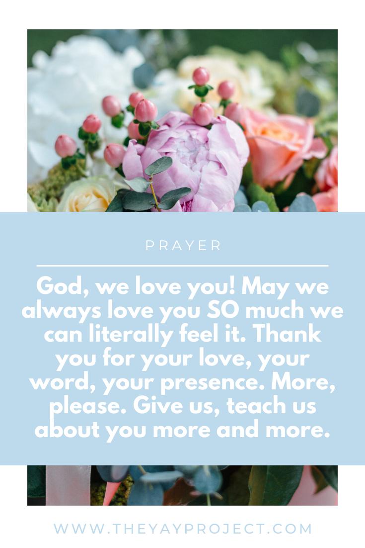 Christian prayer blog by The Yay Project Jenni Lien