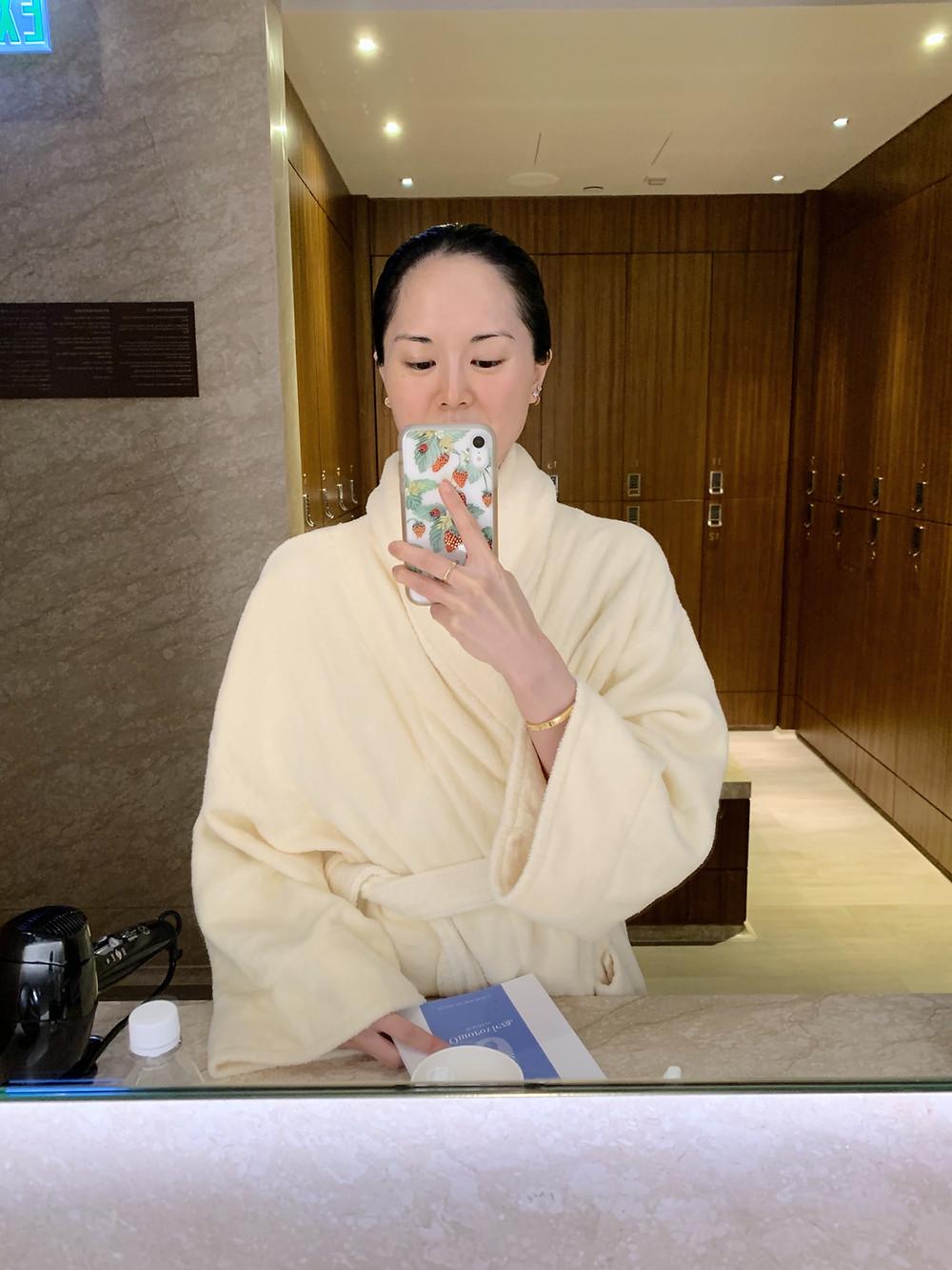 Jenni Lien at the spa at Kerry Hotel Hong Kong