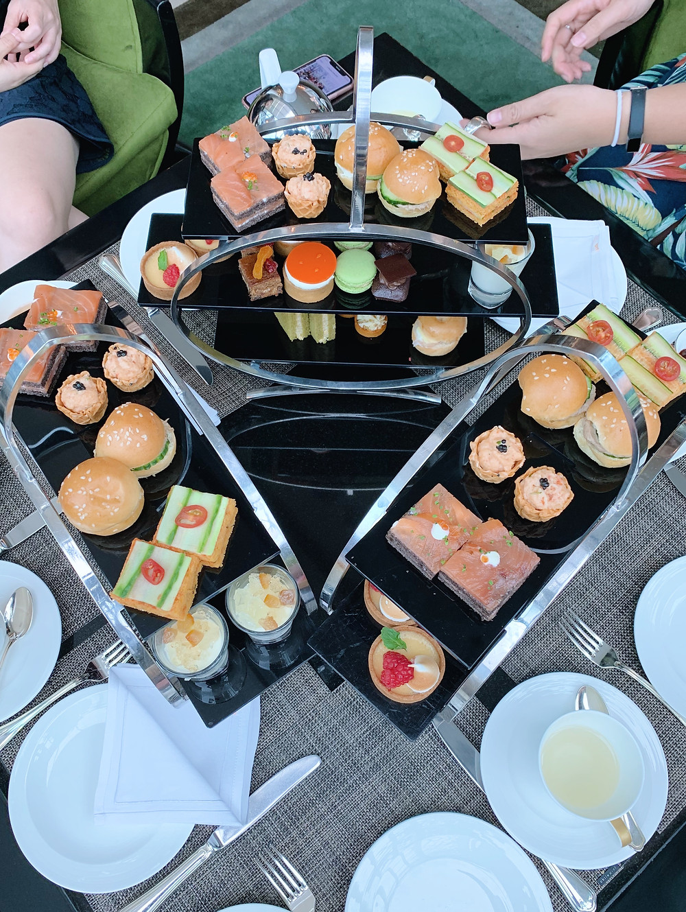 Afternoon tea at the Fullerton Bay Hotel Singapore