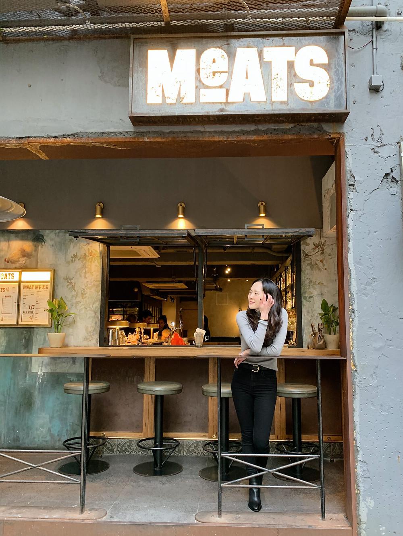 Jenni Lien food blogger at Meats Restaurant Hong Kong