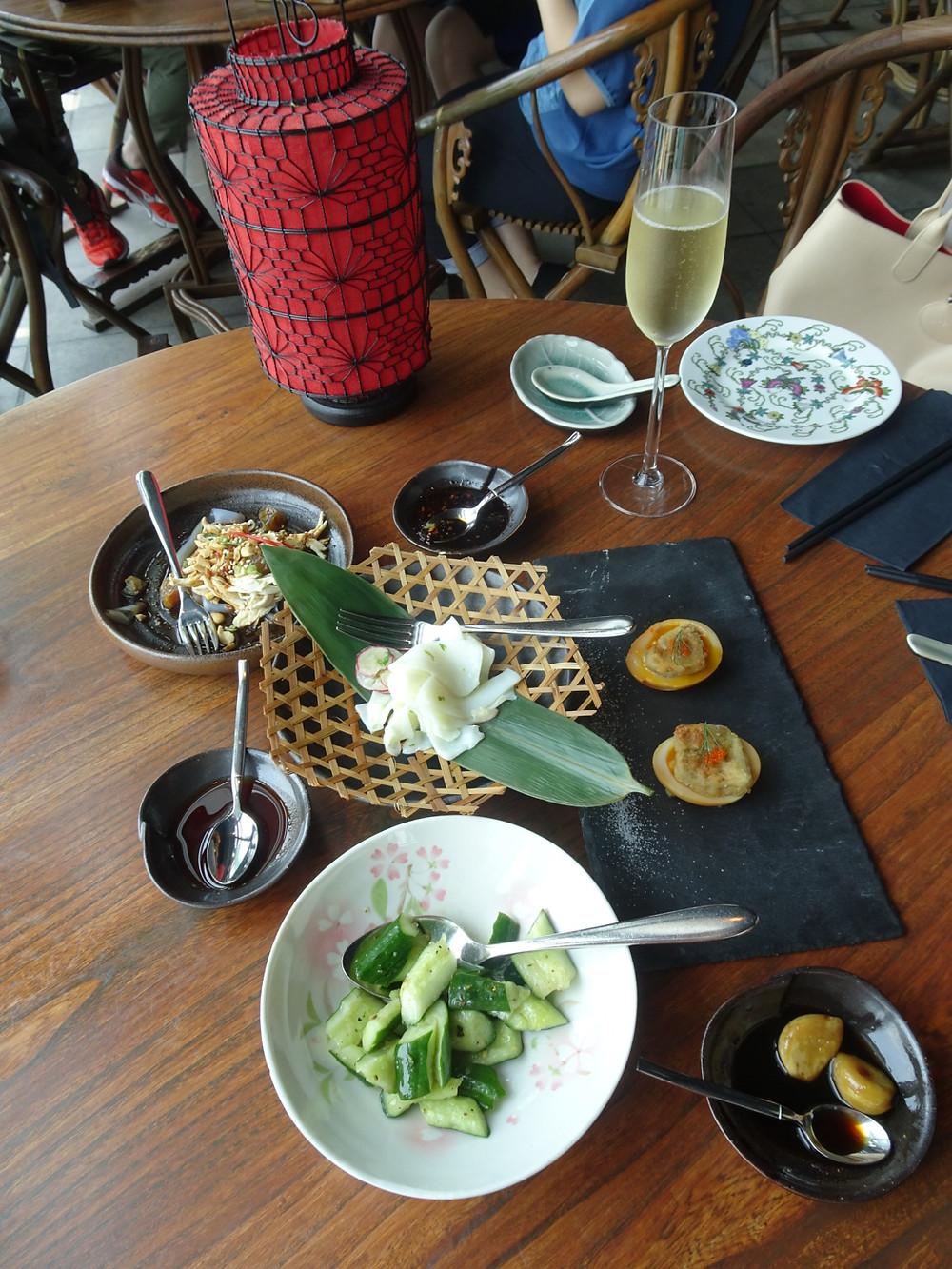 Feng Wei brunch at Hutong Sichuan restaurant by Aqua Group in Hong Kong