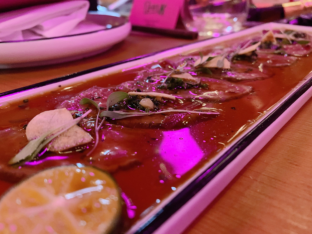 Food at TMK Japanese sushi restaurant in Hong Kong