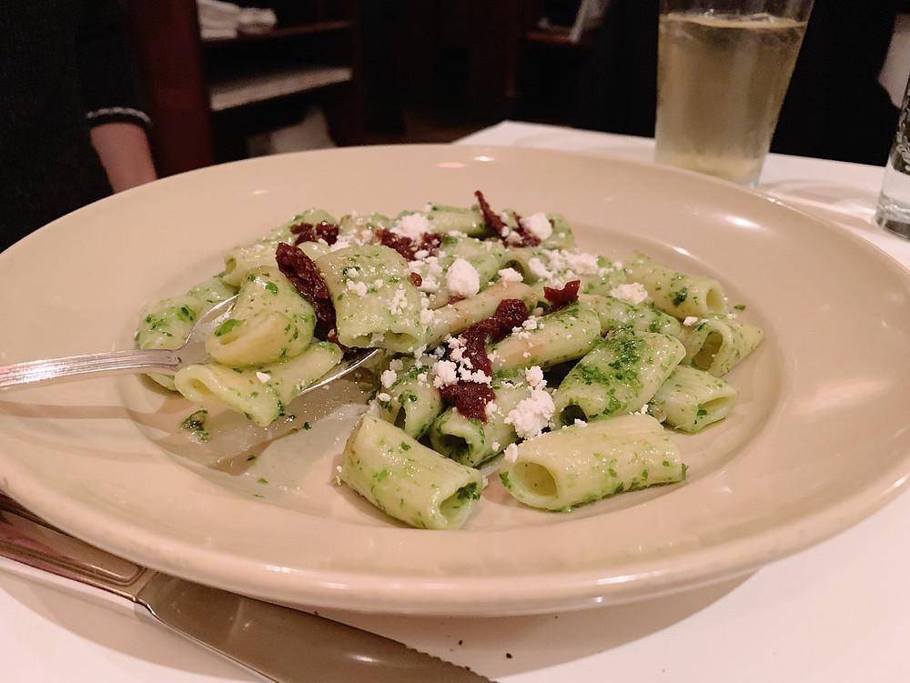 Food at Chez Panisse restaurant in Berkeley, California