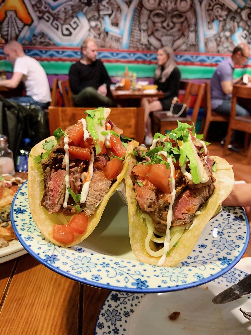 Food at Xoco Mexican restaurant in Hong Kong