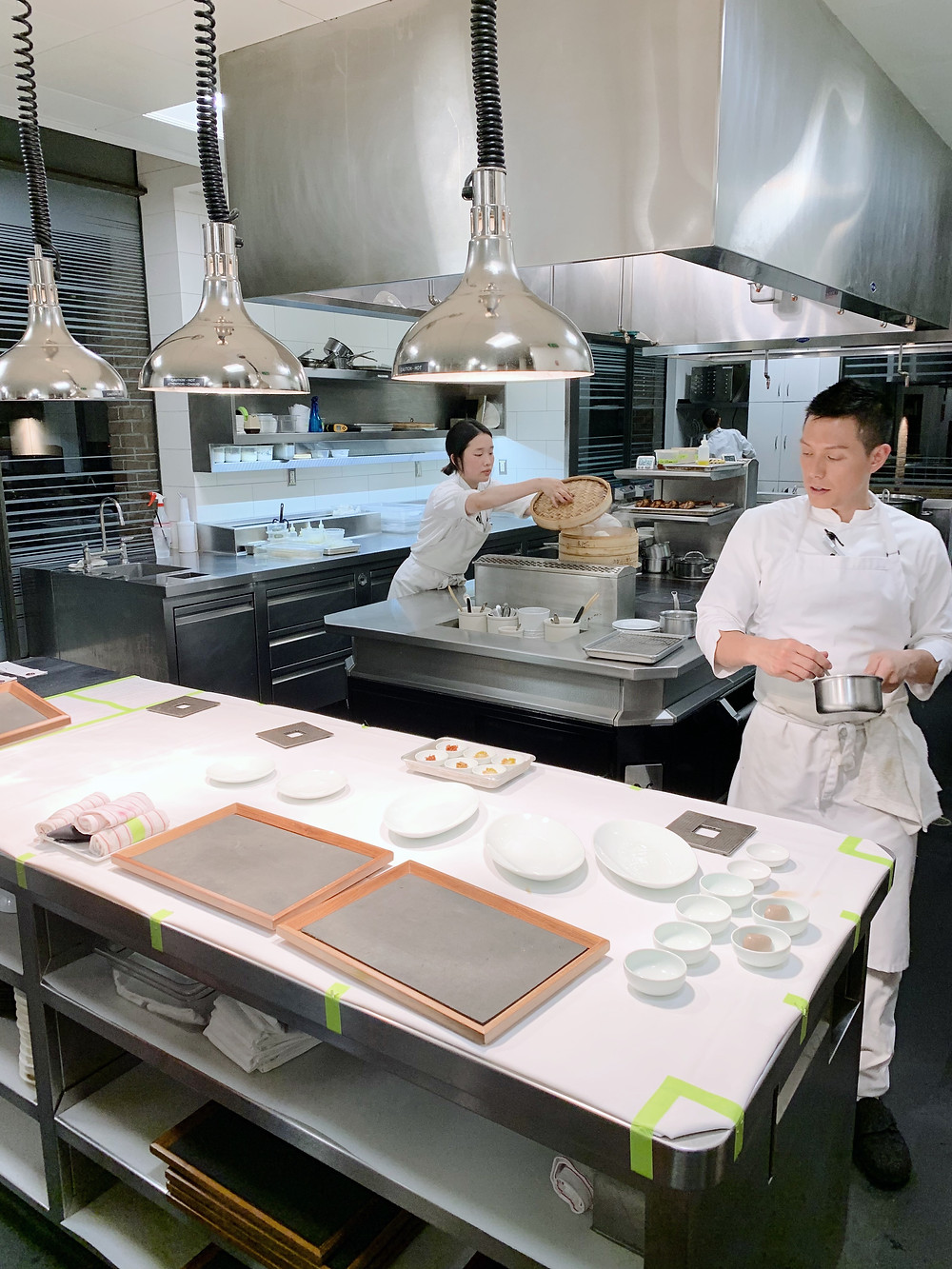 Kitchen at Benu Restaurant by Chef Corey Lee in San Francisco