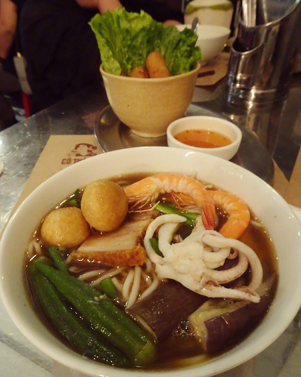 Food at Co Thanh Vietnamese restaurant in Hong Kong