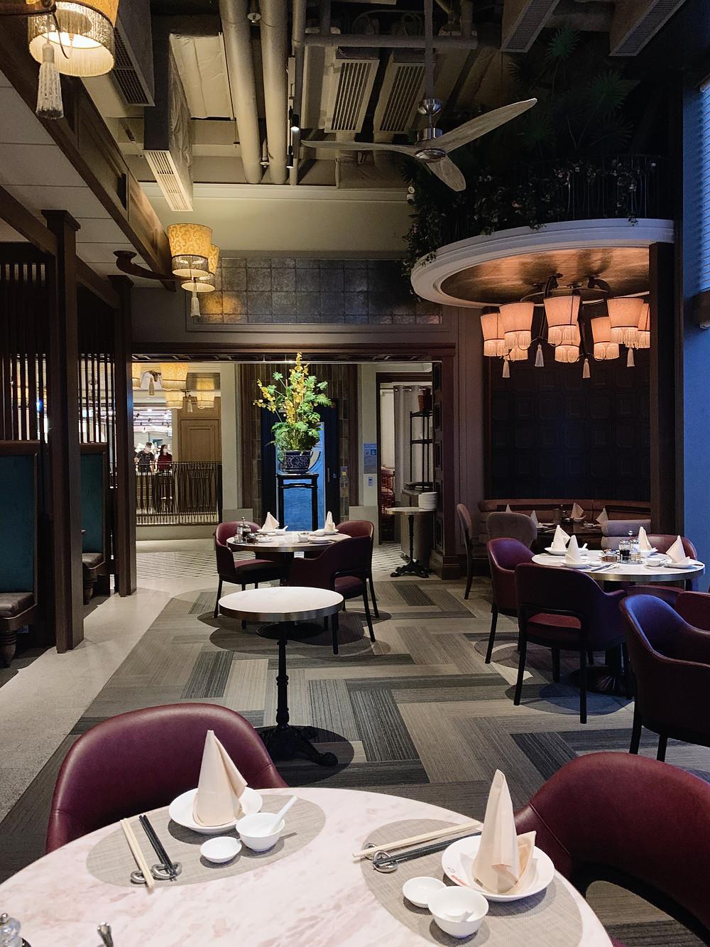 Interiors at Ye Shanghai restaurant in K11 Musea Hong Kong