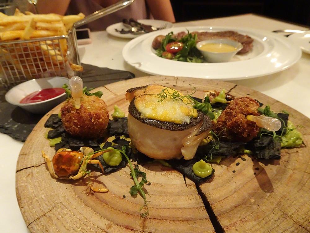Food at Urban Park restaurant in Hong Kong