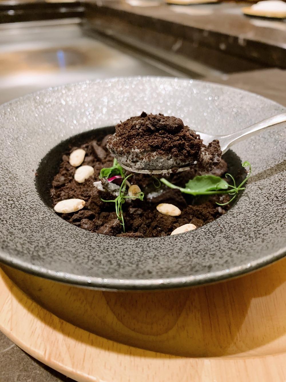 Dessert at Kakure Japanese restaurant at Landmark in Hong Kong