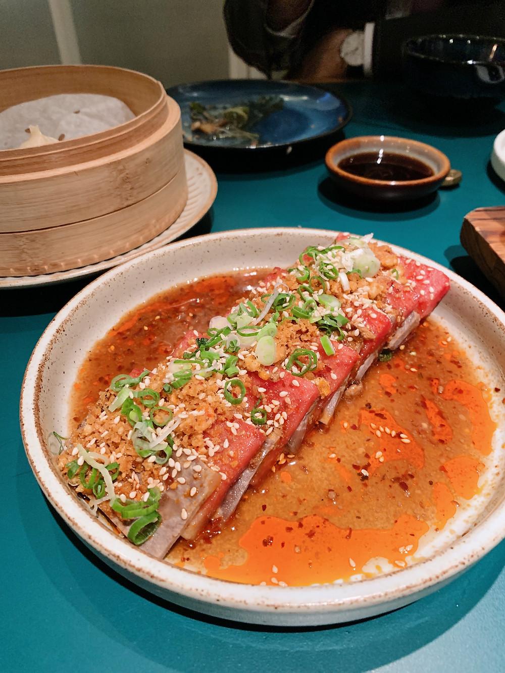 Food at John Anthony restaurant in Hong Kong