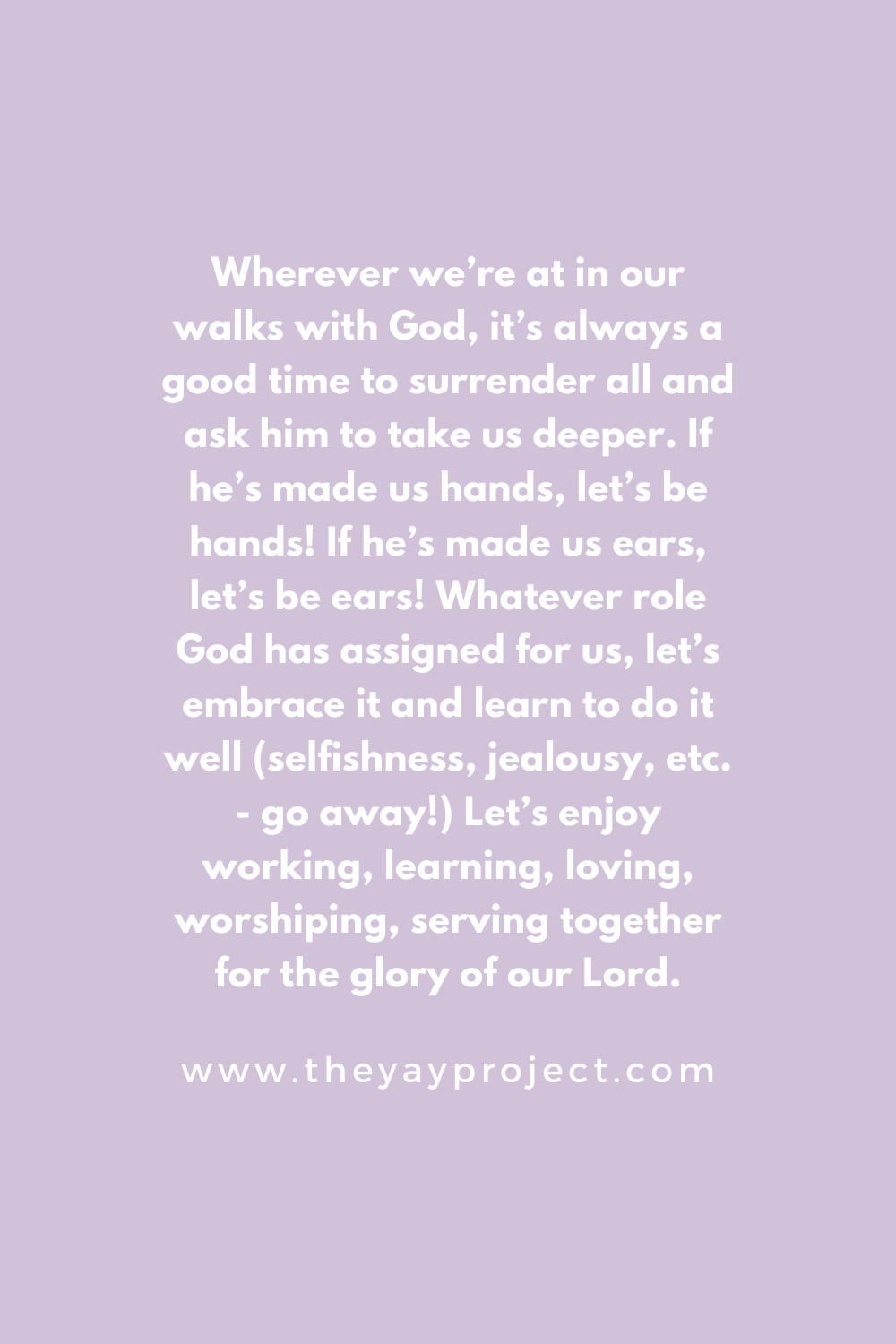 The Yay Project Christian Blog Identity