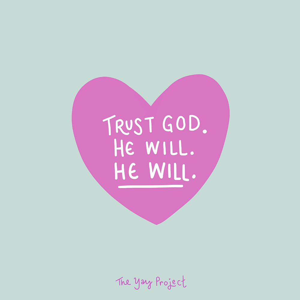 Christian heart graphic on trusting God by Jenni Lien of The Yay Project