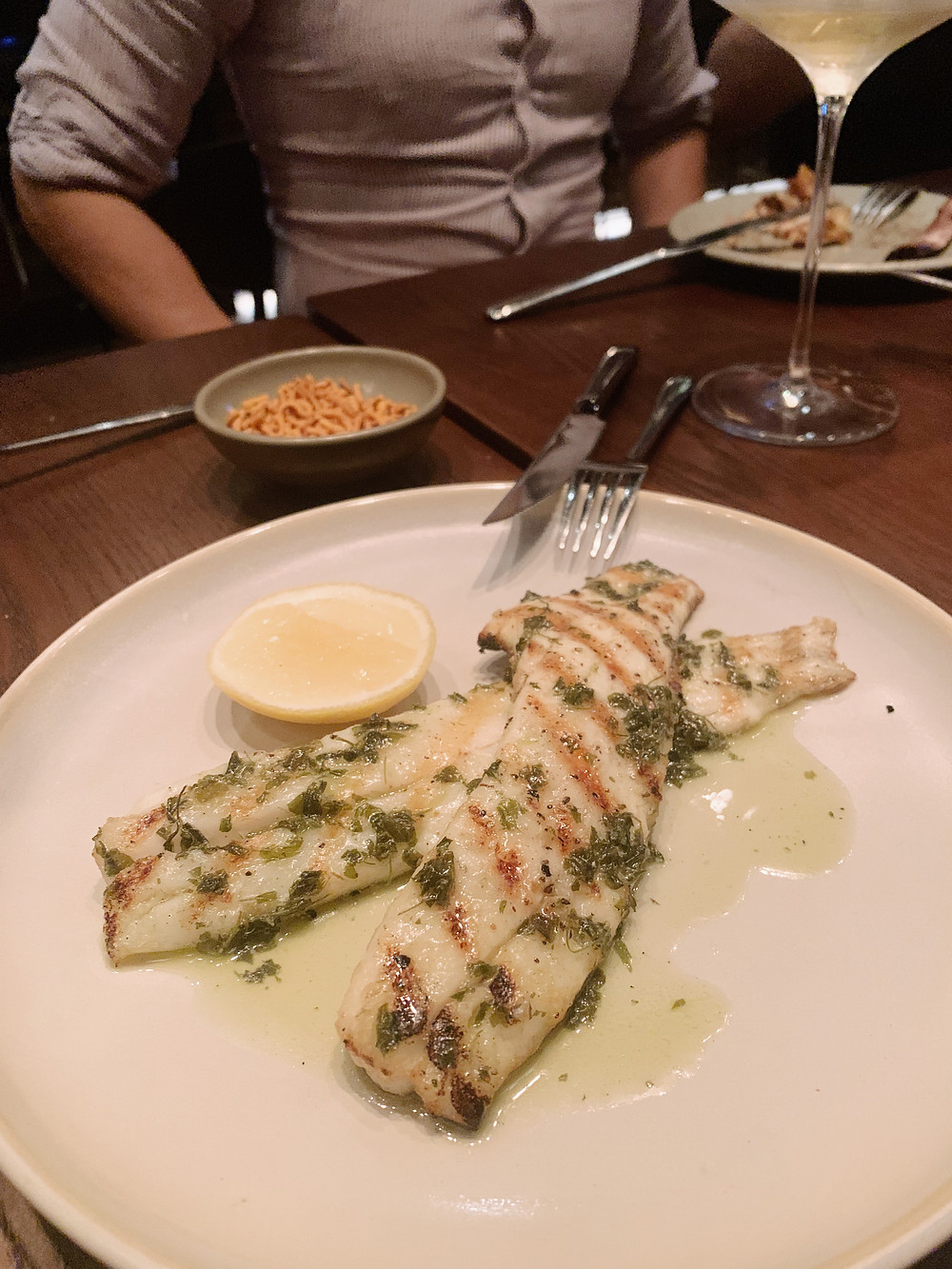 Food at Mr Brown restaurant in Hong Kong
