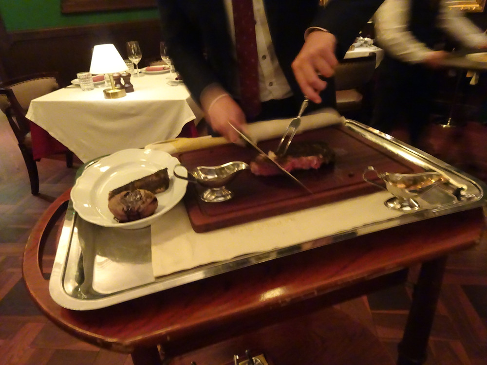 Food at Buenos Aires Polo Club Argentinian steakhouse restaurant in Hong Kong