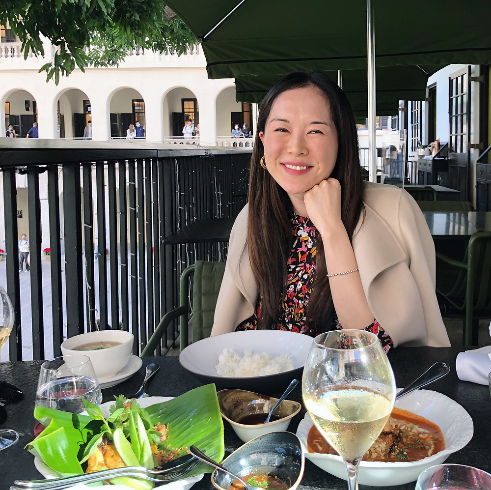 Jenni Lien food blogger at Aaharn restaurant in Hong Kong