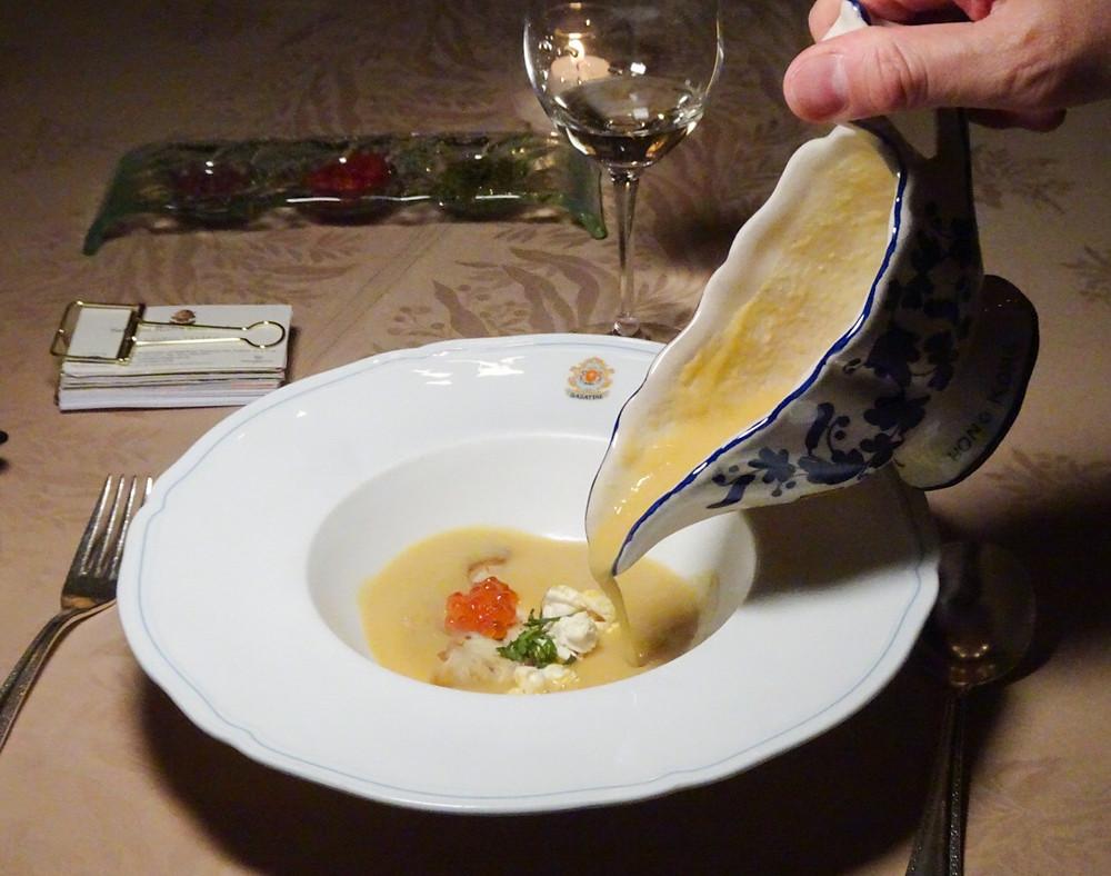 Food at Sabatini Italian restaurant in TST Hong Kong