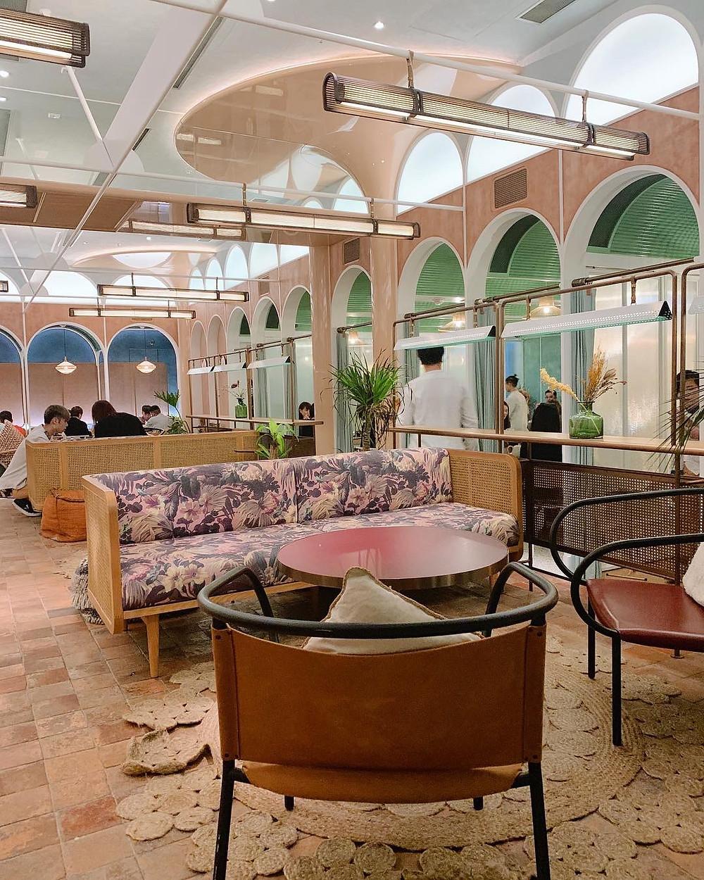 Interiors at John Anthony restaurant in Hong Kong