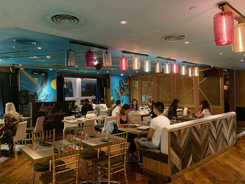 Interiors at Picada restaurant in Hong Kong