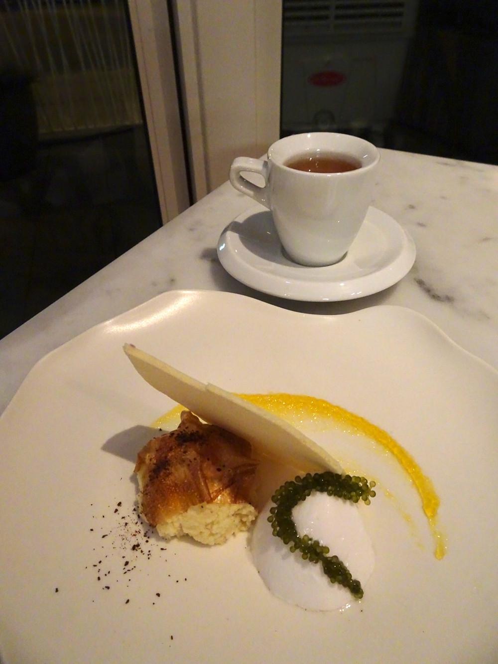 Dessert at Cobo House restaurant in Hong Kong