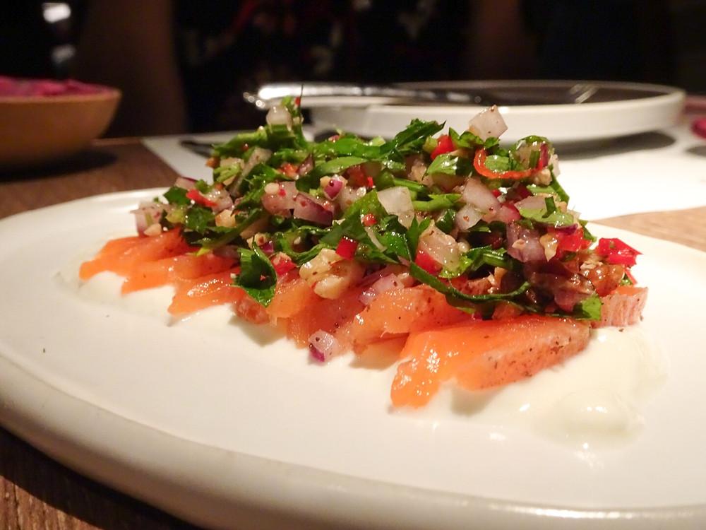 Food at Bedu restaurant in Hong Kong