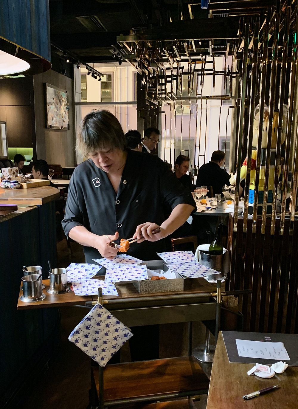 Chef Alvin Leung at Bo Innovation Michelin restaurant in Hong Kong