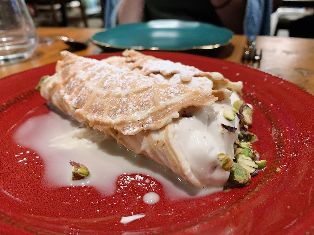 Cannoli at Etna Restaurant in Tin Hau Hong Kong
