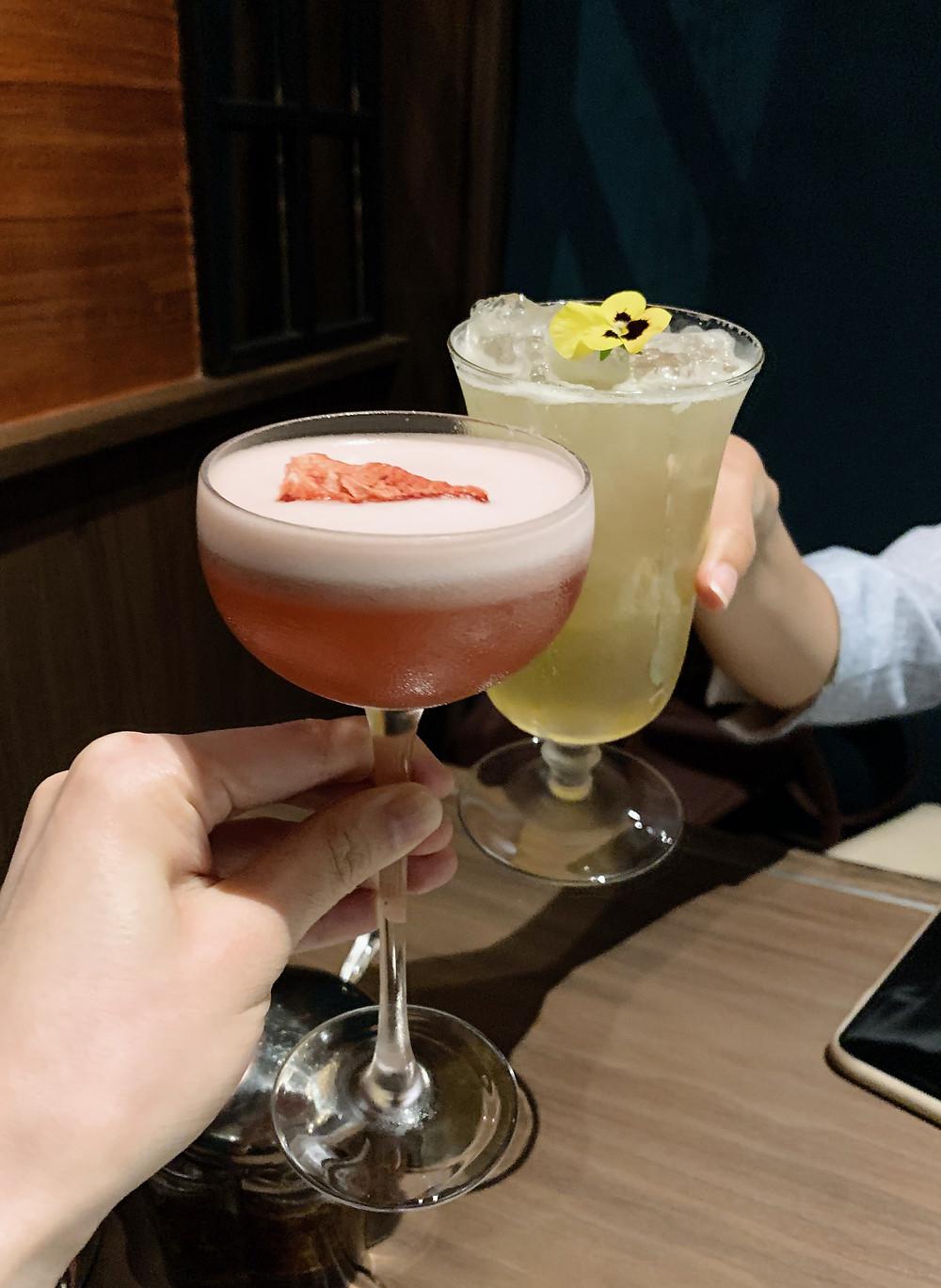 Cocktails at Ye Shanghai restaurant in K11 Musea Hong Kong