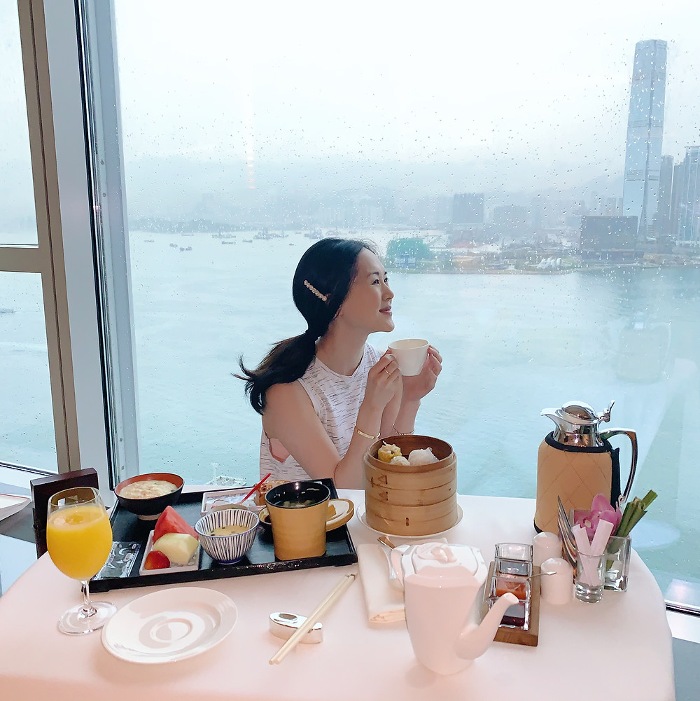 Jenni Lien food Christian blogger at breakfast at Four Seasons Hotel Hong Kong