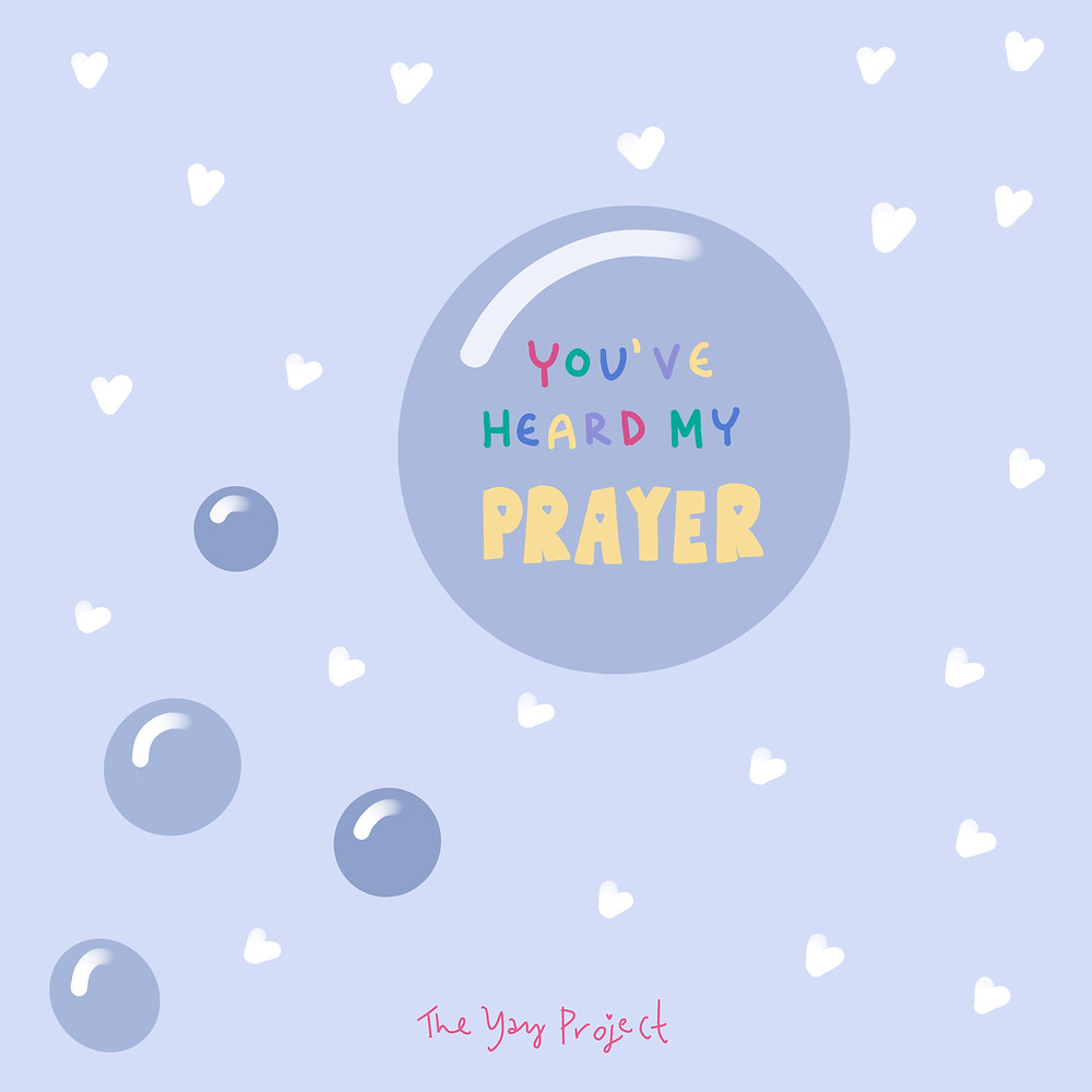 Christian graphic on prayer by Jenni Lien of The Yay Project