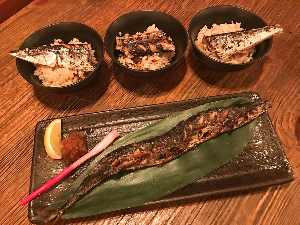 Food at Umai Japanese restaurant in Lai Chi Kok Hong Kong