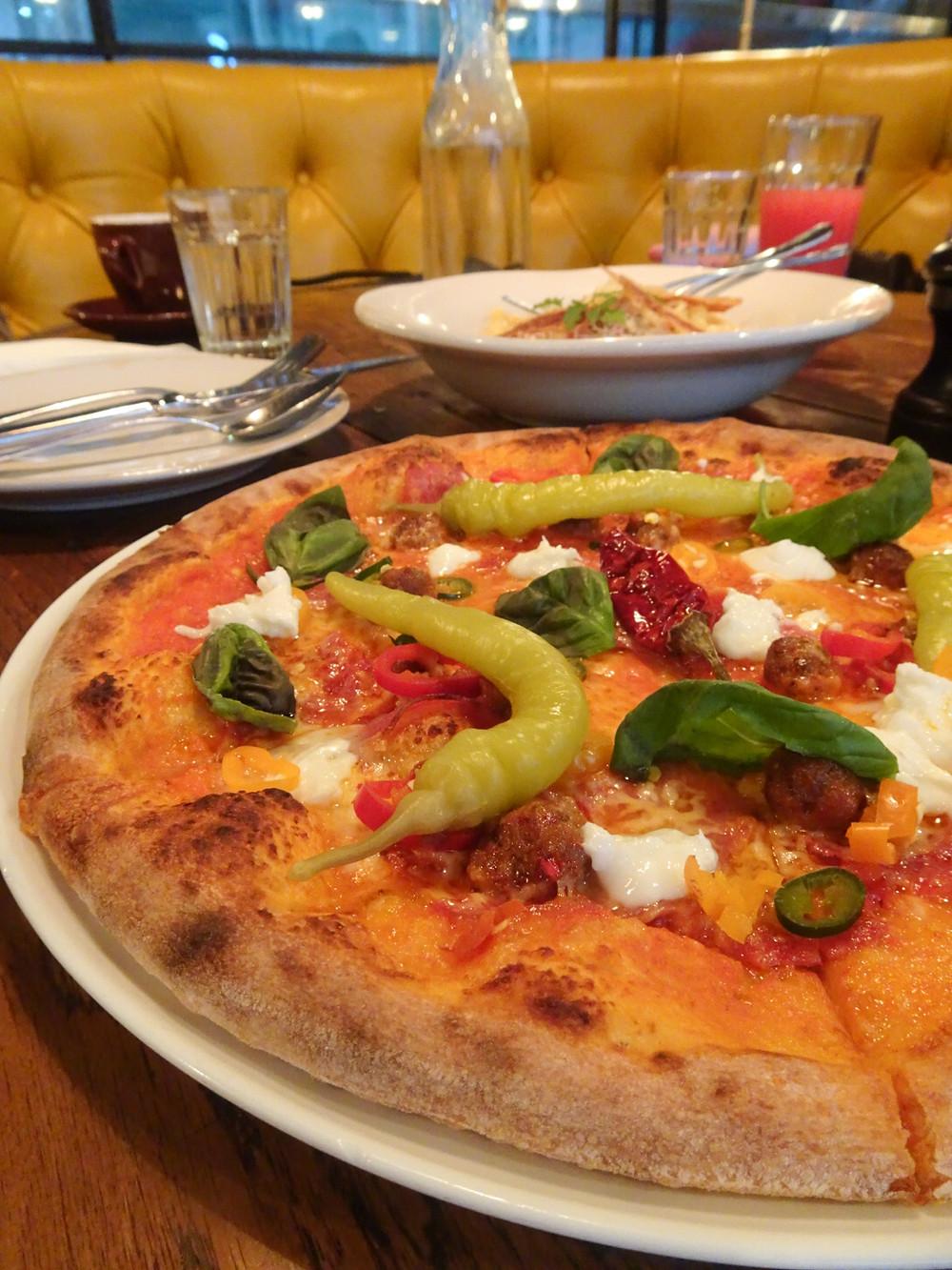 Food at Jamie's Italian restaurant in Hong Kong