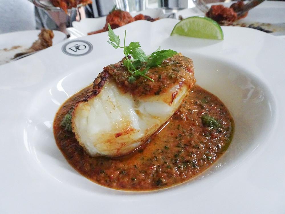 Food at Violet Oon restaurant in Bukit Timah Singapore