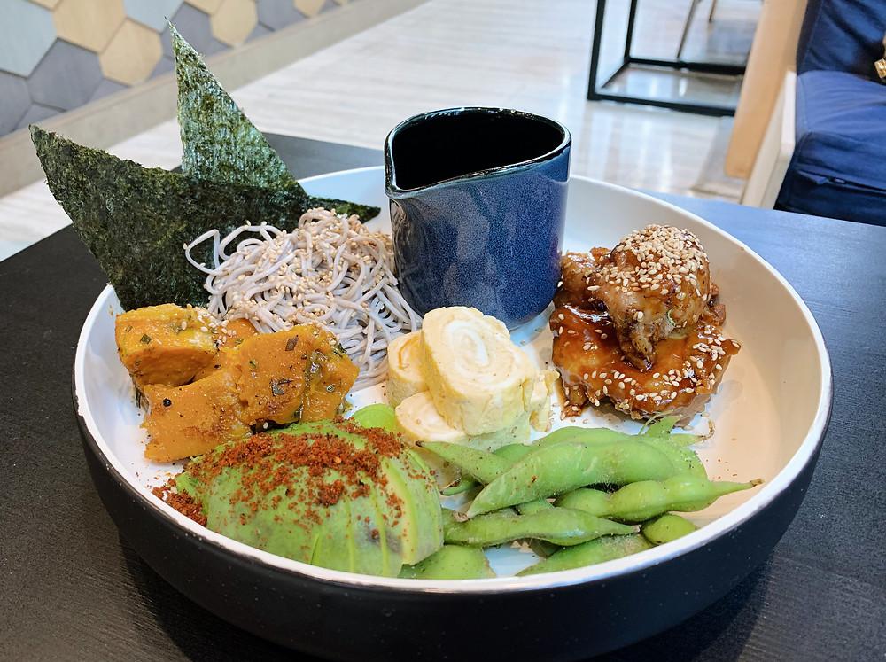 Soba bowl at THE ALP Cafe in Causeway Bay Hong Kong