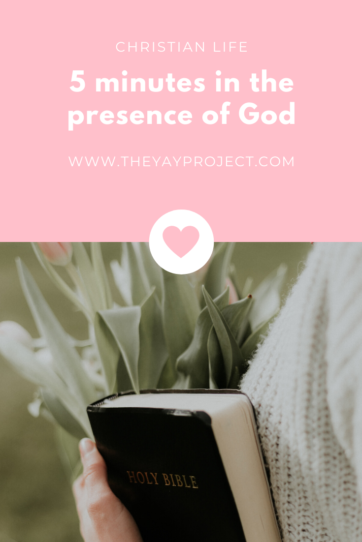 Christian blog on quiet time prayer presence of God by The Yay Project