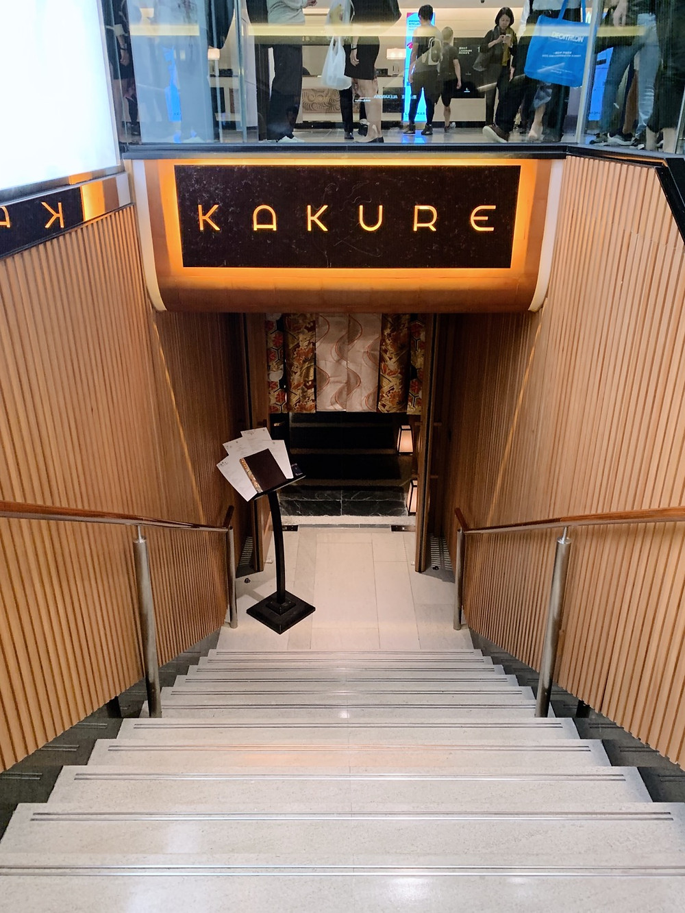 Kakure Japanese restaurant at Landmark in Hong Kong