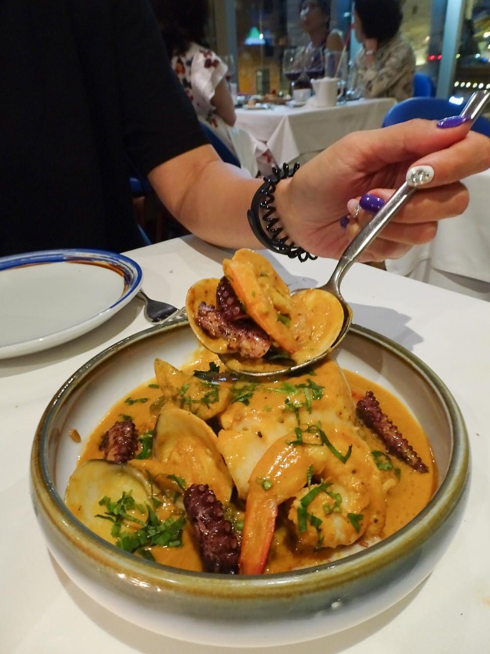 Food at Casa Lisboa restaurant in Hong Kong