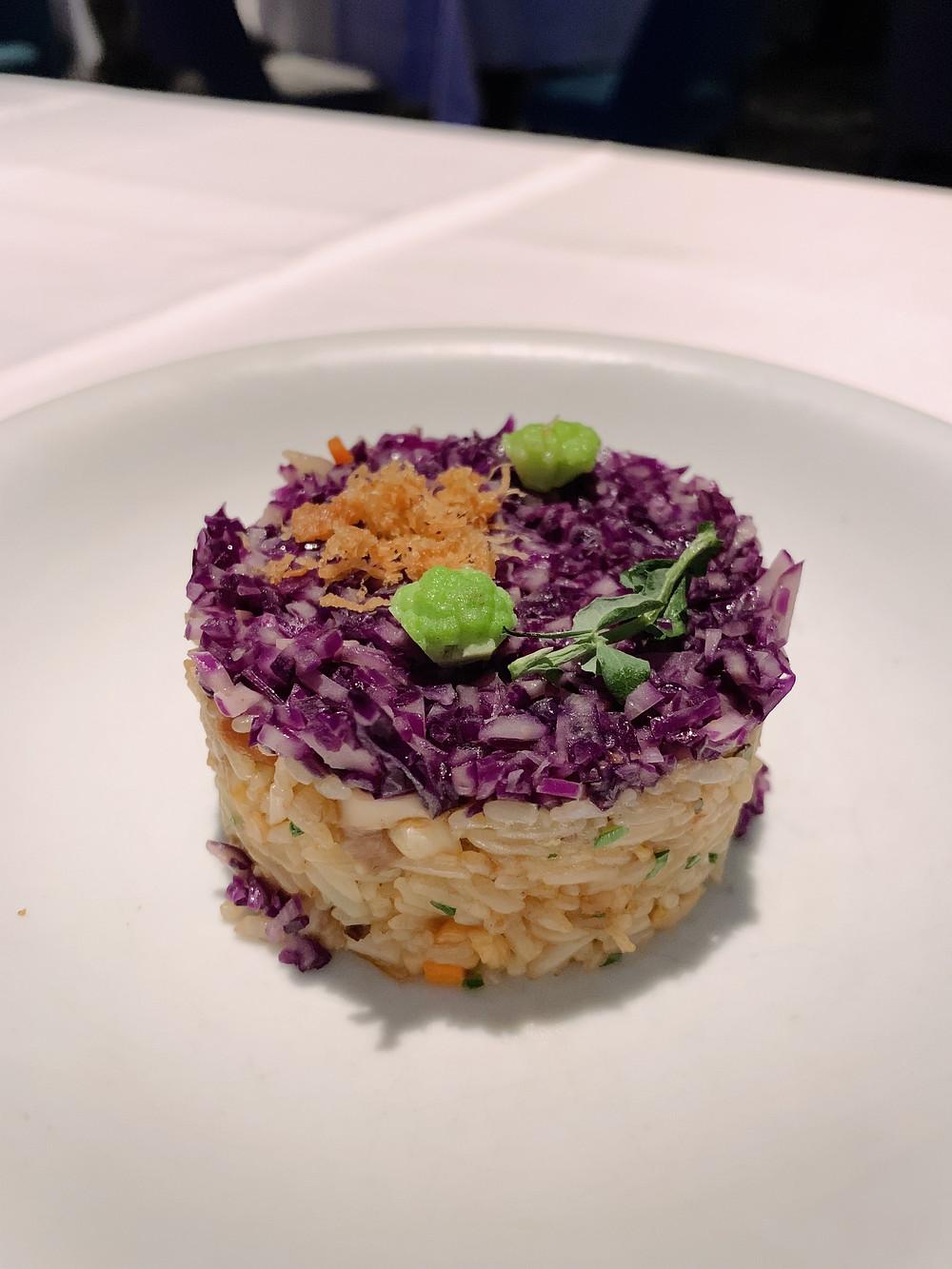 Food at Neptune's Restaurant at Ocean Park in Hong Kong