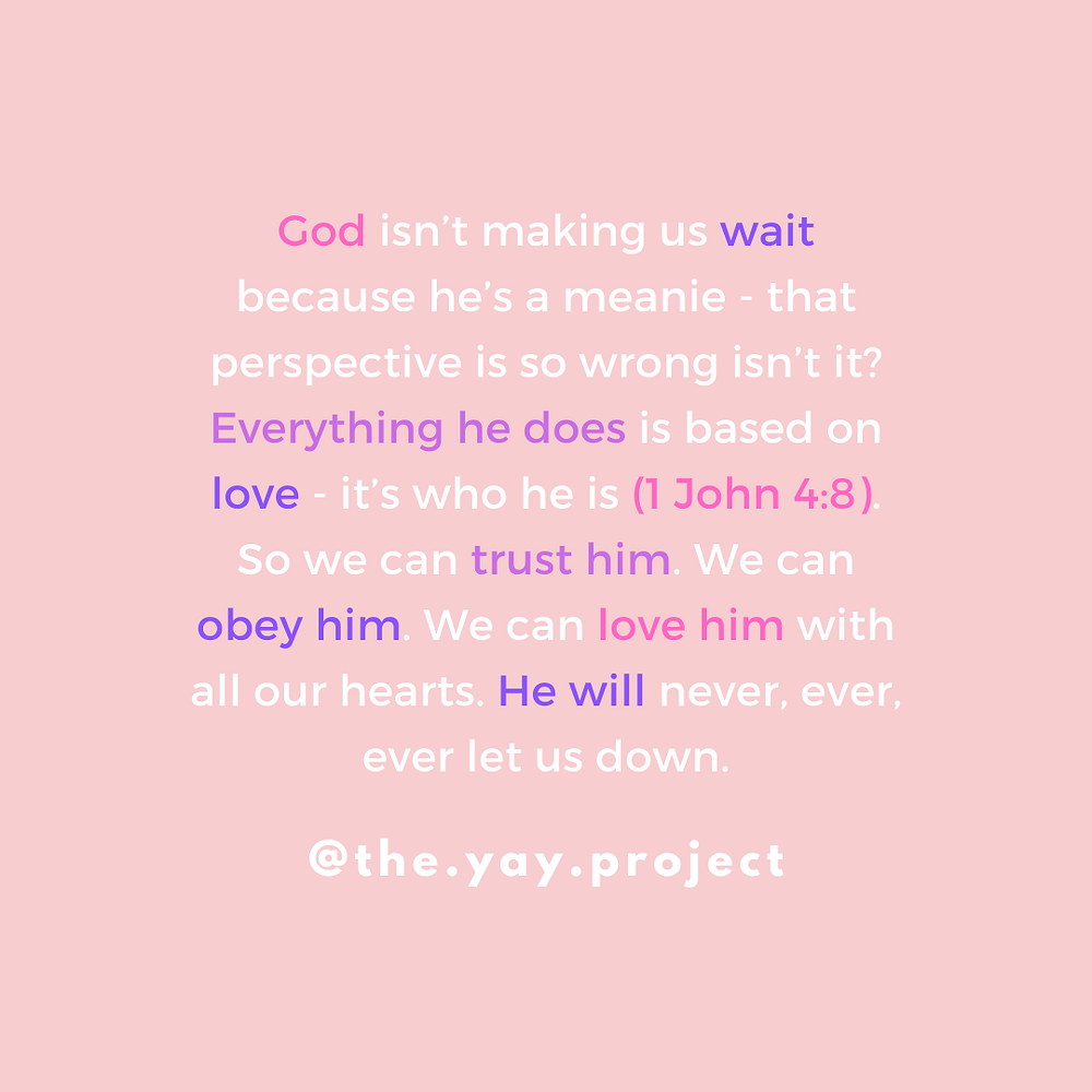 christian blogger quote waiting by Jenni Lien of The Yay Project