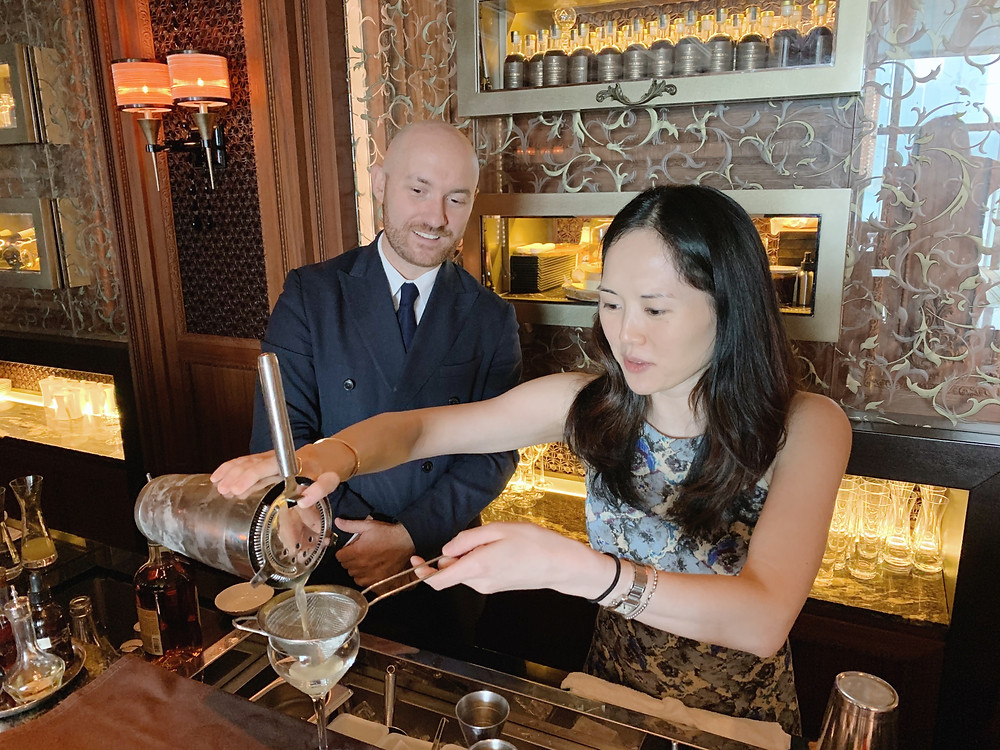 Food blogger Jenni Lien and mixologist bartender Lorenzo Antinori