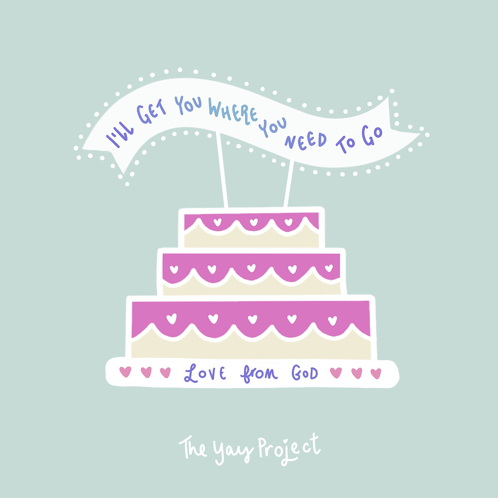 Birthday cake graphic Christian prayer by The Yay Project Jenni Lien
