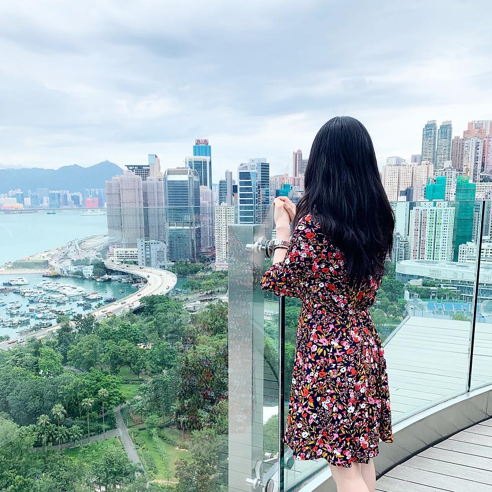 Jenni Lien at Skye bar and restaurant at the Park Lane Hotel in Hong Kong