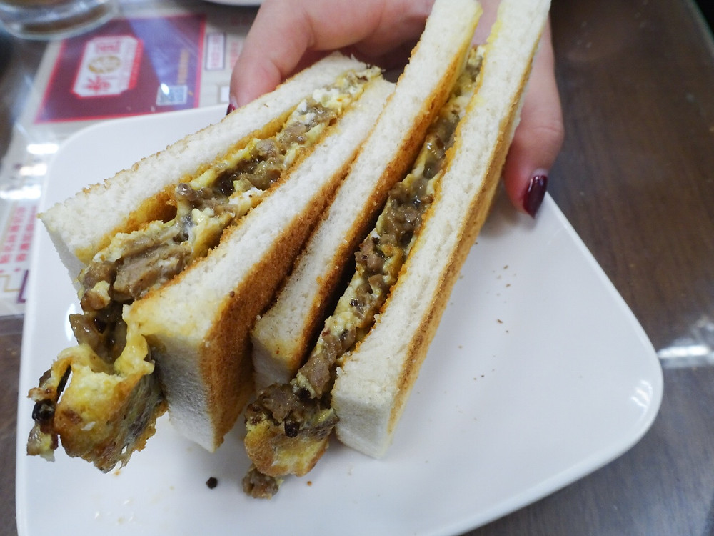 Sandwich at Sun Hang Yuen restaurant in Sham Shui Po Hong Kong