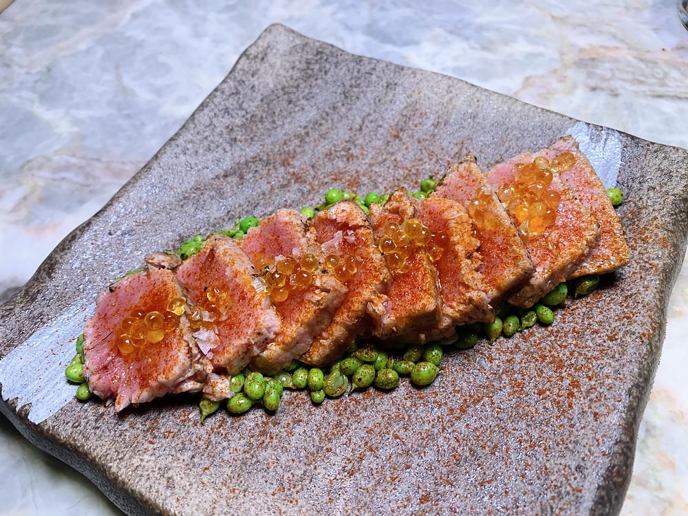 Tuna from La Rambla Spanish restaurant at IFC in Hong Kong