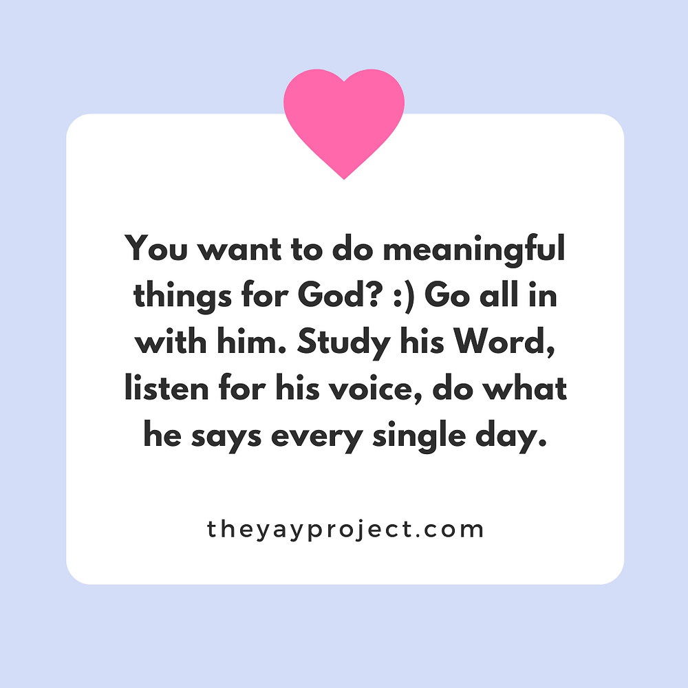 Obey God tips by The Yay Project Christian blog by Jenni Lien