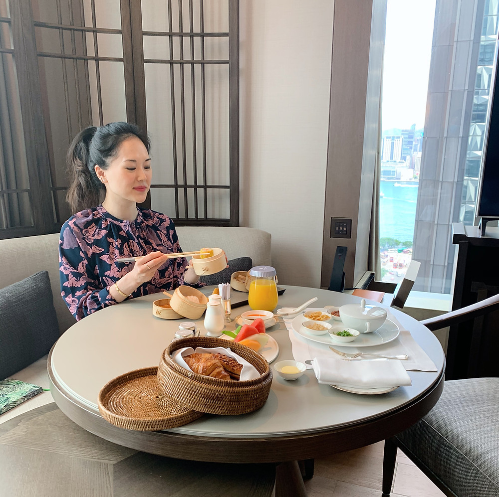 Jenni Lien food blogger at St Regis HK Hong Kong