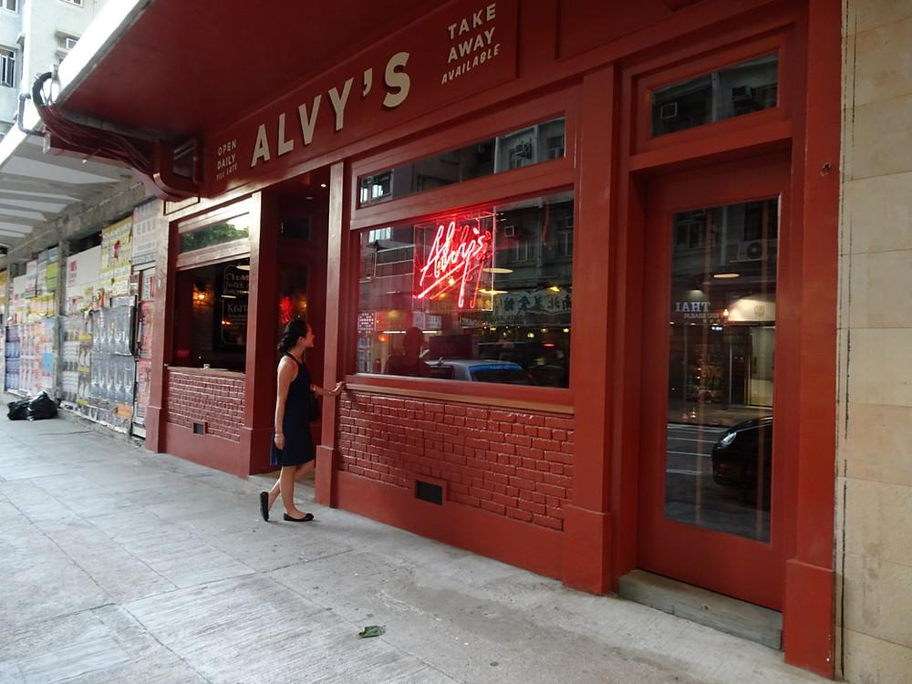 Alvy's restaurant in Kennedy Town Hong Kong