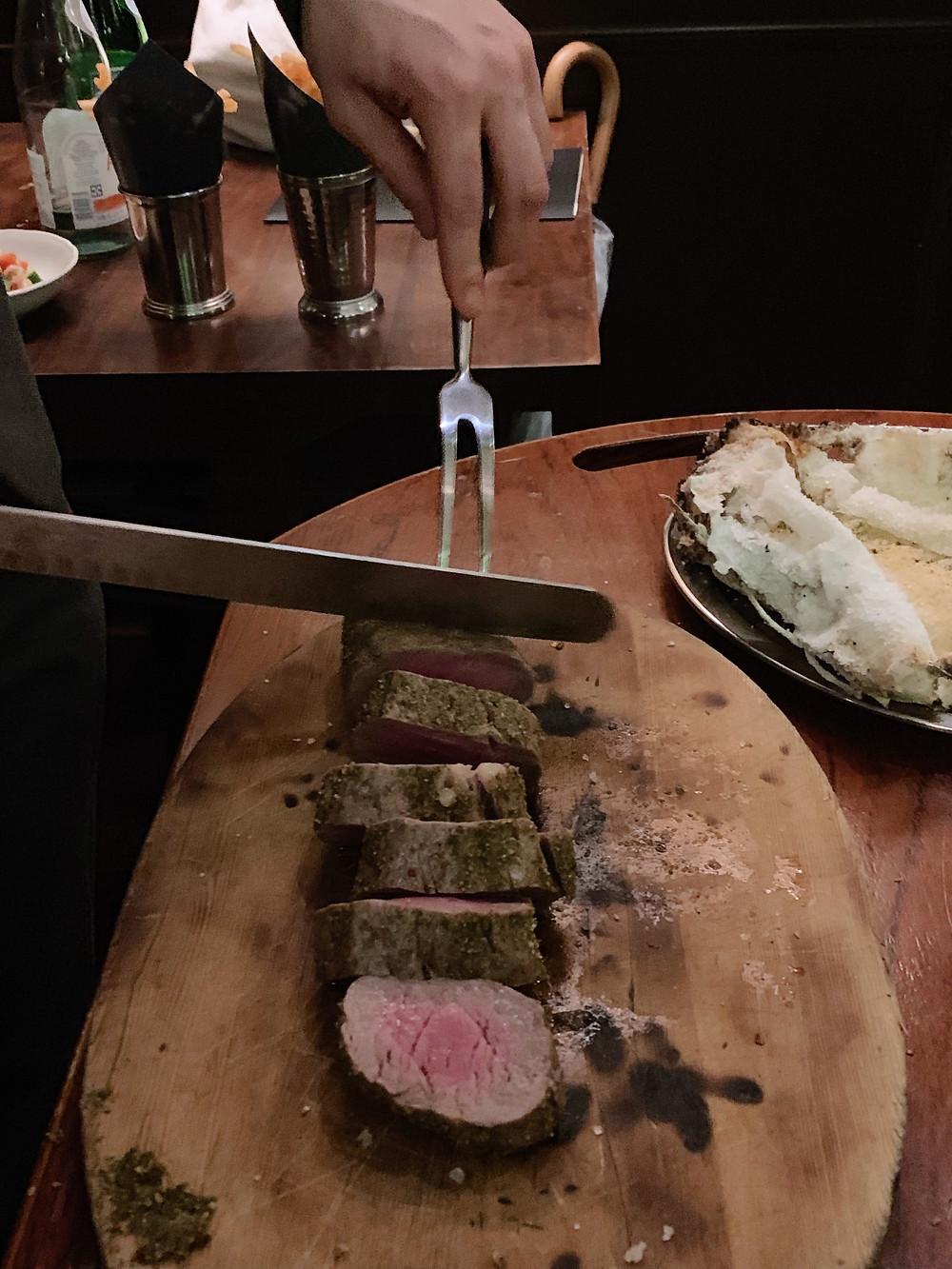 Food at Buenos Aires Polo Club in Hong Kong
