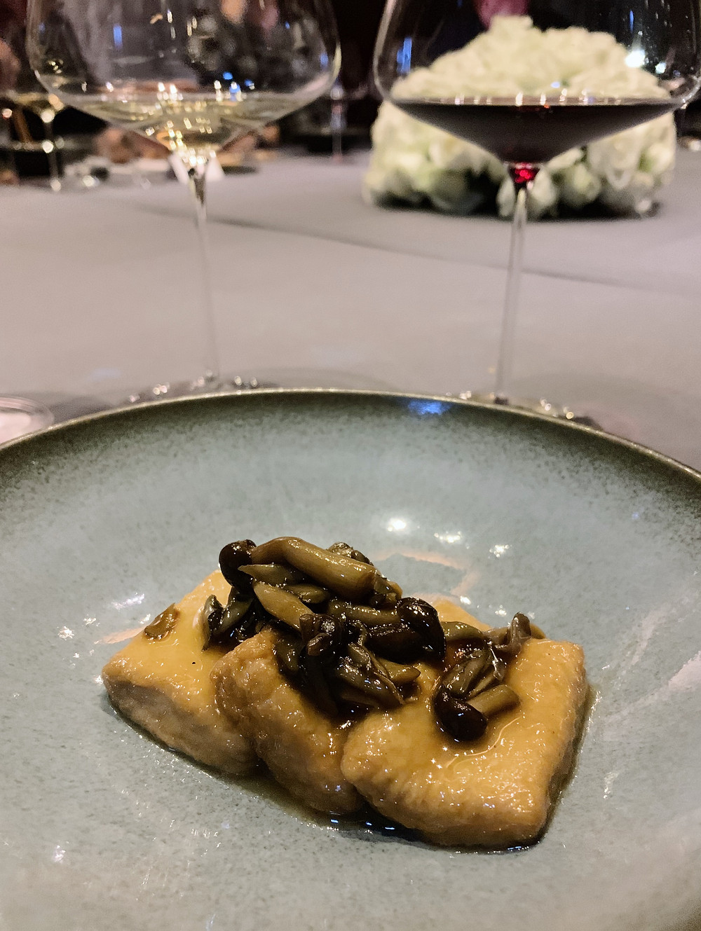 Food at PIIN Wine Restaurant in Hong Kong